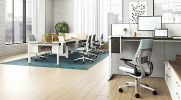 Steelcase workstations with Soto personal console