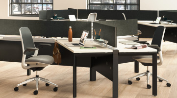 Steelcase workstations with Answer Beam