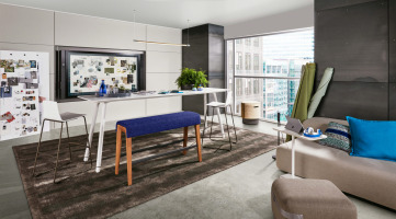 Steelcase collaborative meeting space featuring Microsoft Hub