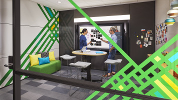 Steelcase VIA walls with integrated Microsoft Hub