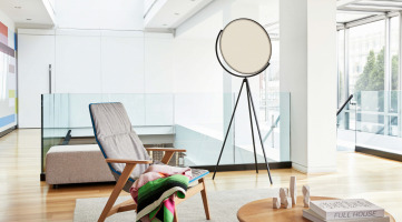 Flos Light with lounge chair